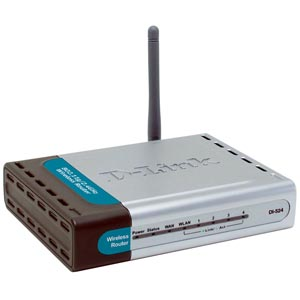D-Link DI-524 WiFi Enabled Internet Router